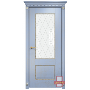 Александрия 2 стекло триплекс белый ромбы (голубая эмаль)