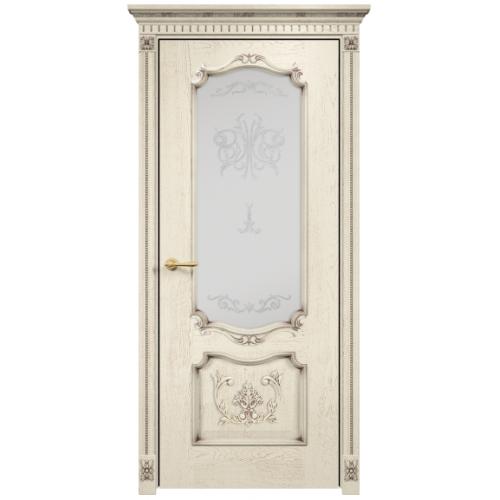 Венеция с декором стекло (слоновая кость патина золото)