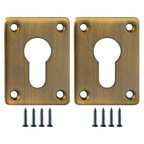 Декоративная накладка Fuaro (Фуаро) ESC083-AB-7 (МАТОВАЯ БРОНЗА) на цилиндр сталь (2 шт.)