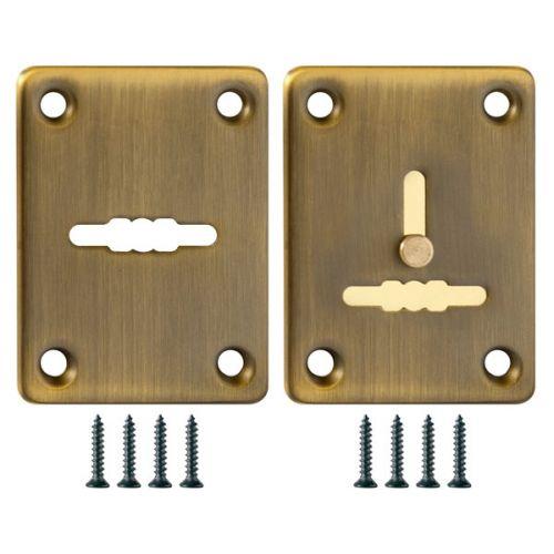 Декоративная накладка Fuaro (Фуаро) ESC081/082-AB-7 (МАТОВАЯ БРОНЗА) на сув. замок сталь (1 пара)