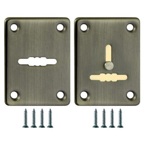 Декоративная накладка Fuaro (Фуаро) ESC081/082-ABG-6 (БРОНЗА) на сув. замок сталь (1 пара)