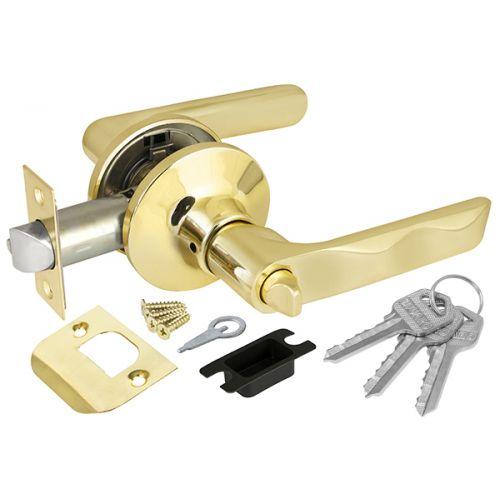 Ручка защелка Fuaro (Фуаро) 624/BL PB-E (золото) кл/фик.