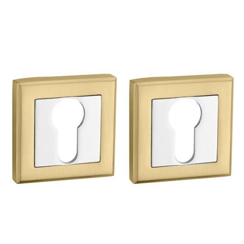 Накладка под Punto (Пунто) цилиндр ET QL SG/CP-4 матовое золото/хром