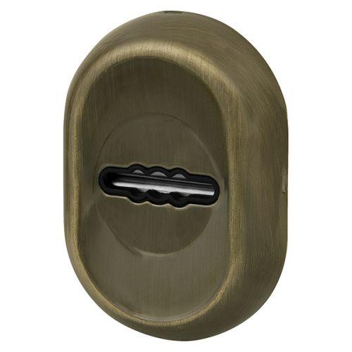 Накладка под Fuaro (Фуаро) сувальдный ключ ESC-13S с автоматическими шторками AB-бронза (2шт. в уп., отгр. по 1шт)