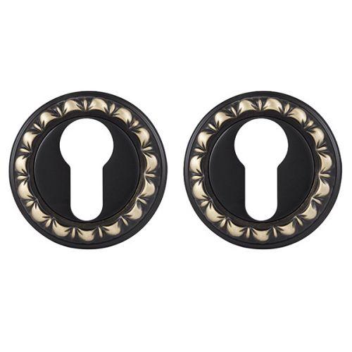 Накладка под Punto (Пунто) цилиндр ET MT OBL-20 античный черный