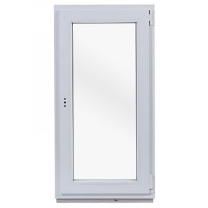 Окно ПВХ одностворчатое 120х60 см поворотное правое