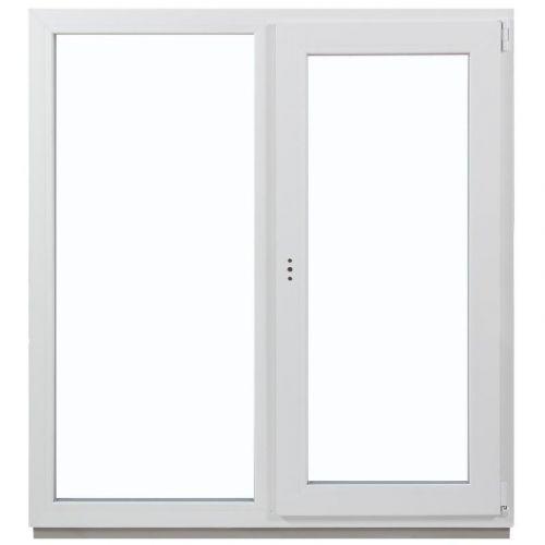 Окно ПВХ двустворчатое 130х120 см глухое/поворотное правое