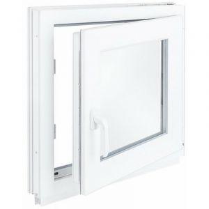 Окно ПВХ одностворчатое 60х50 см поворотное правое