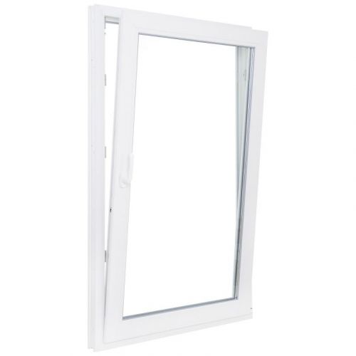 Окно ПВХ одностворчатое 90х90 см поворотно-откидное правое