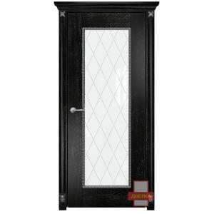 Александрия стекло триплекс белый ромбы (черная эмаль)