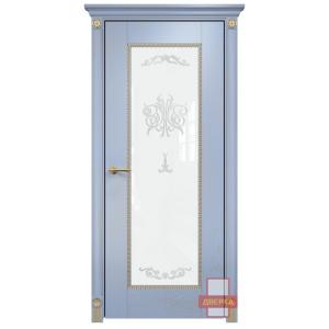 Александрия стекло триплекс белый (голубая эмаль)