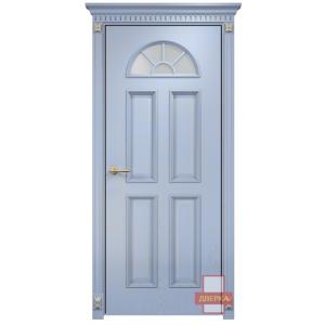 Бостон стекло сатинат белый (голубая эмаль)