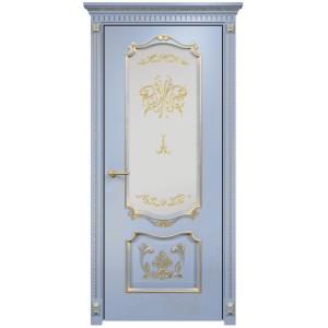 Венеция с декором стекло (голубая эмаль патина)