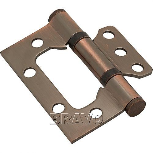 Петли без врезки стальная 2ВВ 75*63*2,5 AC Медь