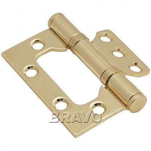 Петли без врезки стальная 2ВВ 75*63*2,5 G Золото