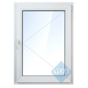 Окно ПВХ одностворчатое 120х100 см поворотное правое