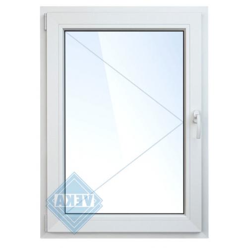 Окно ПВХ одностворчатое 120х60 см поворотно-откидное левое