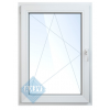 Окно ПВХ одностворчатое 120х80 см поворотно-откидное левое