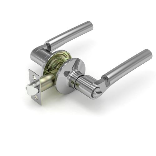 Ручка защелка Fuaro (Фуаро)  883 SN\CP-B (мат. никель/хром) фик.