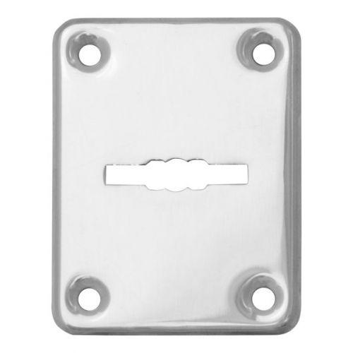 Декоративная накладка Fuaro (Фуаро) ESC082-CP-8 (ХРОМ) на сувальдный замок (1шт) (нерж. сталь)