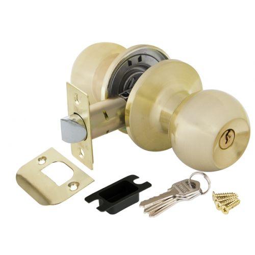 Ручка защелка Punto (Пунто) 6072 SB-E (кл./фик.) мат. золото