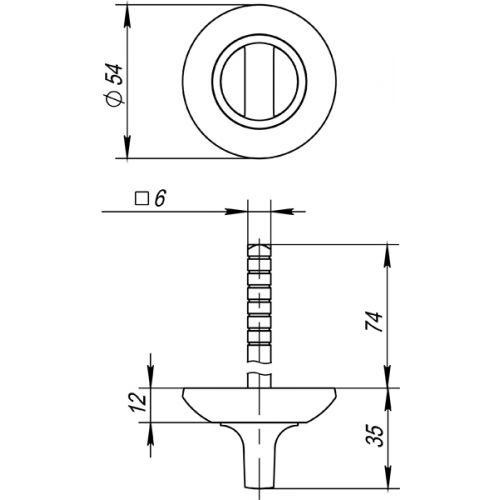 Ручка поворотная Fuaro (Фуаро) BKW6 AR-SN/CP-3 (без ответной части)