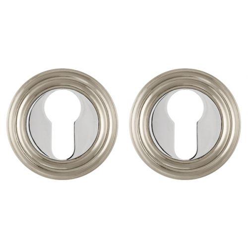 Накладка под Punto (Пунто) цилиндр ET ML SN/CP-3 матовый никель/хром