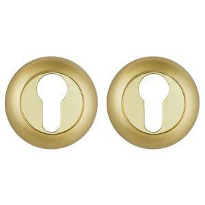 Накладка под Punto (Пунто) цилиндр ET TL SG/GP-4 матовое золото/золото