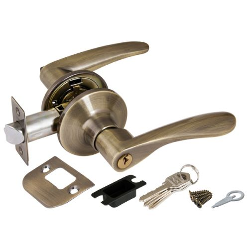 Ручка защелка Punto (Пунто) 6020 AB-E (кл./фик.) бронза
