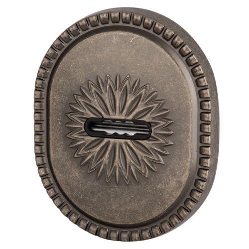 Декоративная накладка Armadillo (Армадилло) на сувальдный замок PS-DEC CL (ATC Protector 1) AS-9 Античное серебро