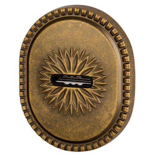Декоративная накладка Armadillo (Армадилло) на сувальдный замок PS-DEC CL (ATC Protector 1) OB-13 Античная бронза