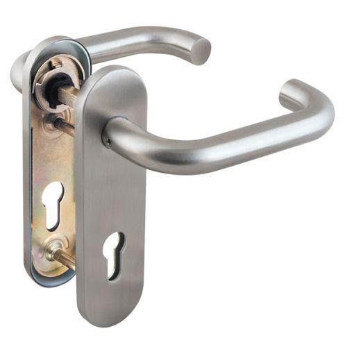 Ручка дверная Fuaro (Фуаро) DH-0433 SS с пружиной, НЕРЖАВЕЙКА, квадрат 9x140 мм