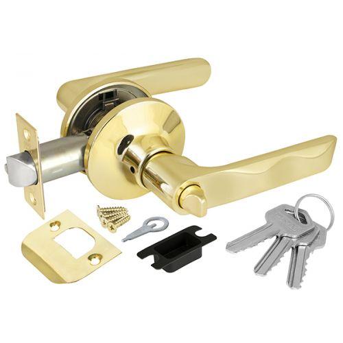 Ручка защелка Punto (Пунто) 6024 PB-E (кл./фик.) золото