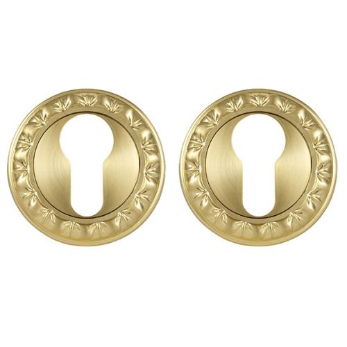 Накладка под Punto (Пунто) цилиндр ET MT SG/GP-4 матовое золото/золото