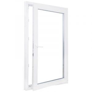 Окно ПВХ одностворчатое 120х80 см поворотное правое
